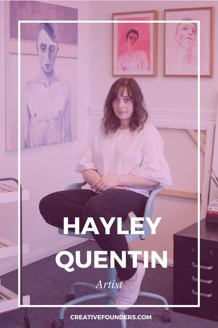 Hayley Quentin Artist Interview Pinterest