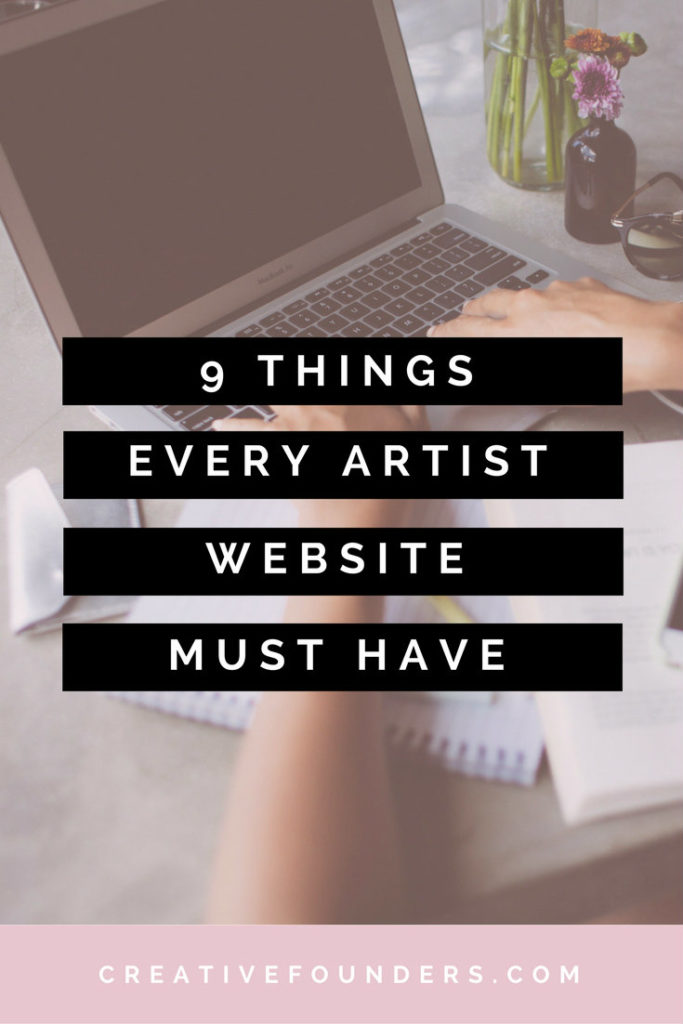 9 Things Every Artist Website Must Have. Art Marketing Tips.