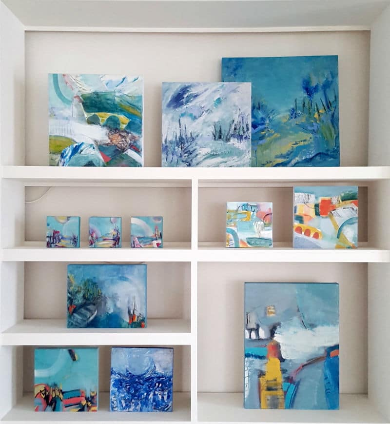 Tara Leaver Artist Art display